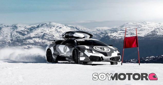 Jon Olsson Lamborghini Murcielago video ski nieve -SoyMotor