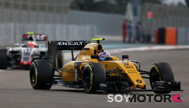 Palmer durante la carrera en Abu Dabi - LaF1