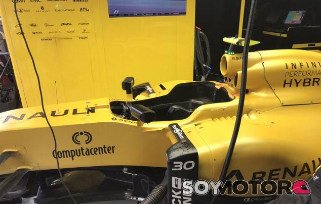 El monoplaza de Palmer, tras abandonar en el GP de Brasil - LaF1