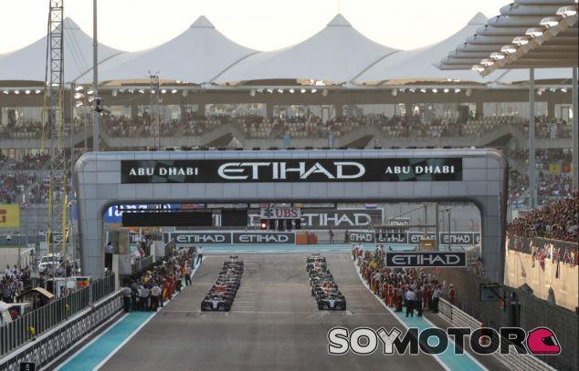 Parrilla de salida del GP de Abu Dabi - SoyMotor