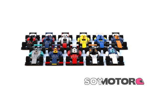 Los 11 coches de la parrilla 2016 al estilo LEGO - SoyMotor