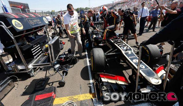 Kimi Räikkönen en la parrilla de salida del GP de Hungría