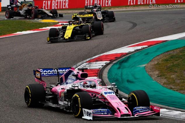Racing Point en el GP de China F1 2019: Domingo