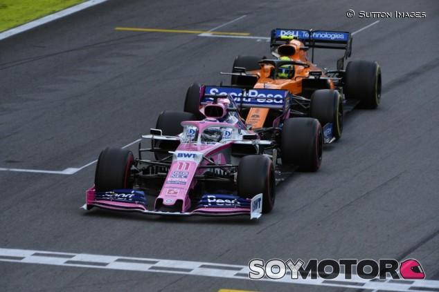 Sergio Pérez y Lando Norris en el GP de Brasil F1 2019 - SoyMotor.com