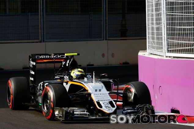 Sergio Pérez en Bakú - LaF1