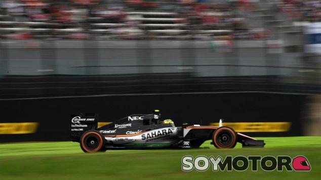 Pérez llegó a rodar tercero tras la salida - LaF1