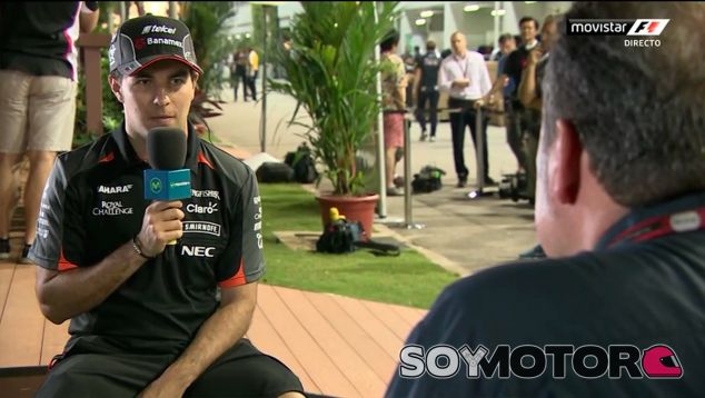 Sergio Pérez en la tertulia de Movistar F1 - LaF1