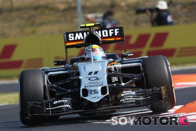 Sergio Pérez con el Force India en Hungría - LaF1