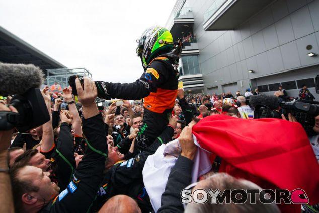 Sergio Pérez se dio una alegría enorme a él mismo y a Force India en Rusia - LaF1