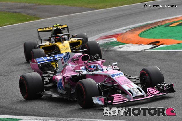 Sergio Pérez y Carlos Sainz en Monza - SoyMotor.com
