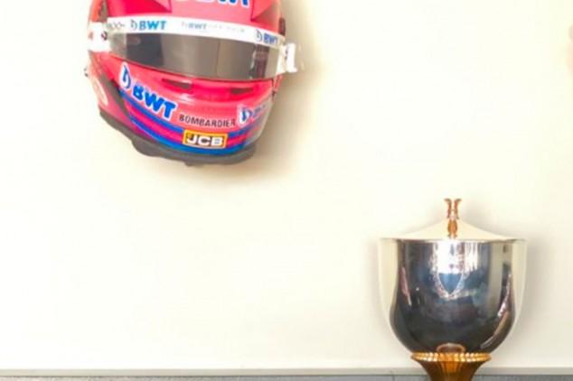 El detalle de Aston Martin: el trofeo original de Sakhir se lo queda Pérez - SoyMotor.com