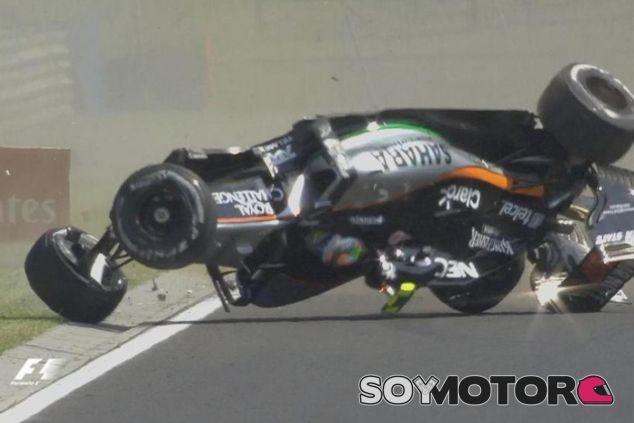 Accidente de Sergio Pérez en Hungría - LaF1.es