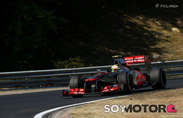 Sergio Pérez en el Hungaroring