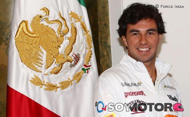 Sergio Pérez en su anuncio como piloto de Force India