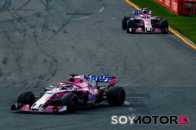 Los coches de Force India en el GP de Australia de 2018 – SoyMotor.com
