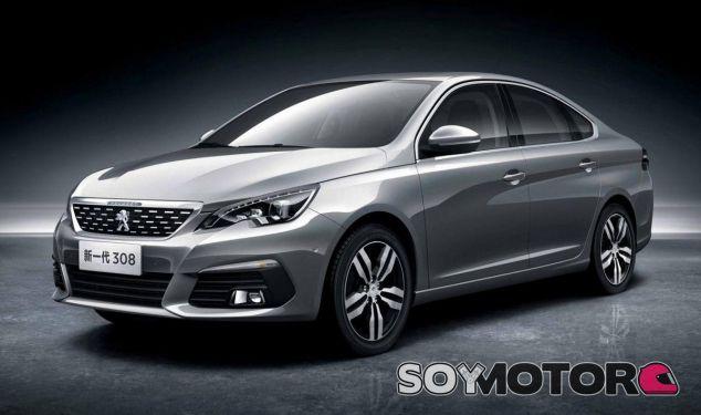 El Peugeot 308 Sedán presenta unas medidas comparables a una berlina del segmento D - SoyMotor
