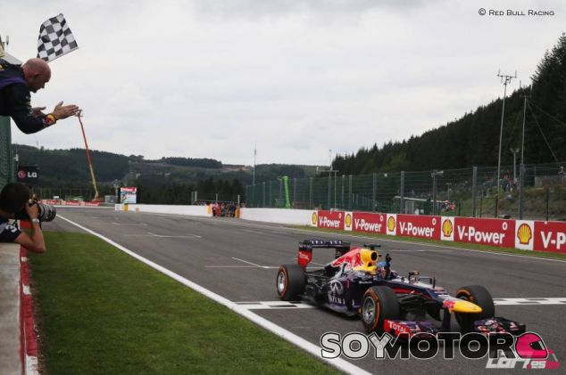 Sebastian Vettel venció en Spa el año pasado - LaF1