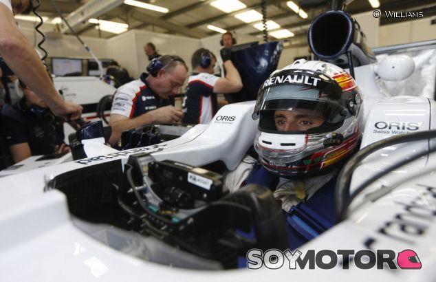 Daniel Juncadella durante los test de Silverstone