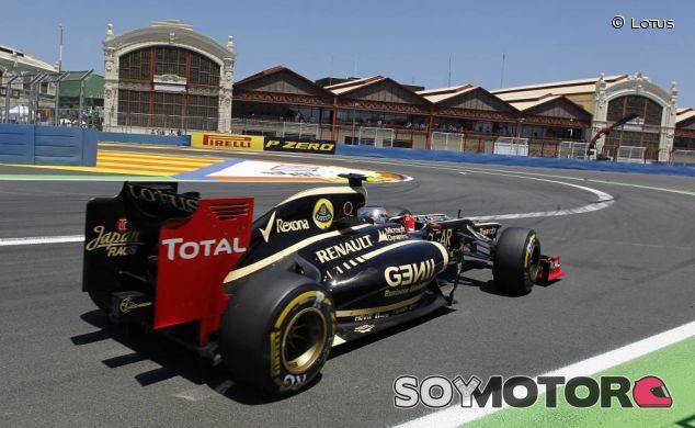 Romain Grosjean en el Gran Premio de Europa de 2012