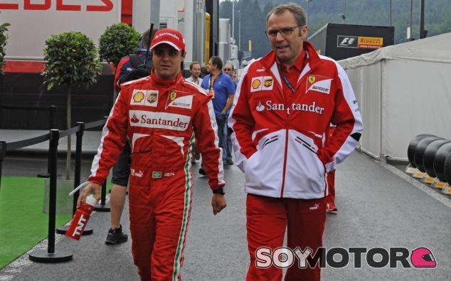 Felipe Massa y Stefano Domenicali en Spa-Francorchamps