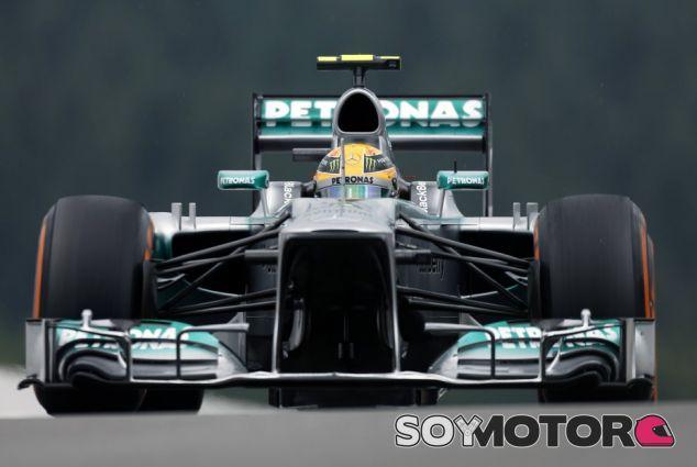 Lewis Hamilton durante el Gran Premio de Bélgica