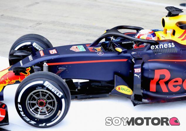 Pierre Gasly con el Halo en el RB12 - LaF1
