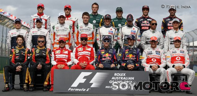 Foto de grupo de todos los pilotos de la temporada 2013