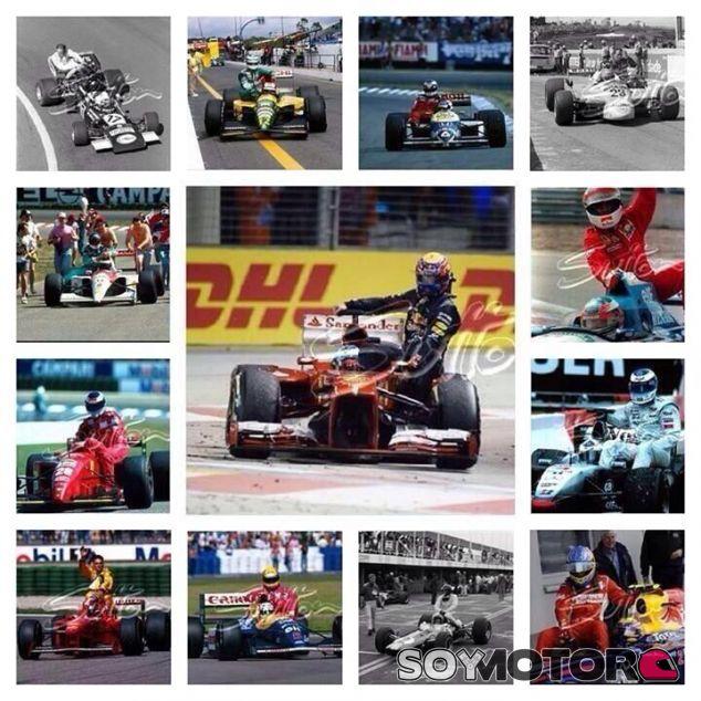 Así ha ilustrado Webber las acciones en el pasado de la F1 - LaF1