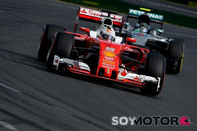 Sebastian Vettel y Nico Rosberg en el Gran Premio de Australia - LaF1