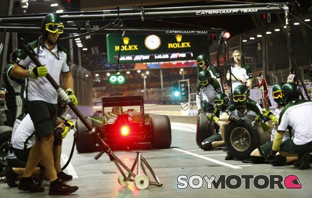 Caterham en el GP de Singapur F1 2014: Sábado