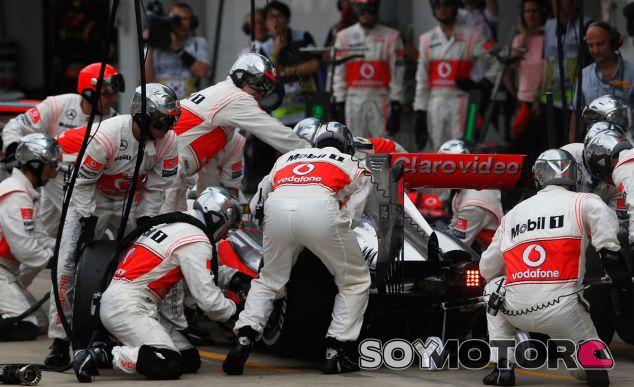 PIt stop de Sergio Pérez en el pasado GP de Corea - LaF1