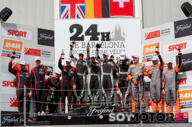 Podio general de las 24 horas de Barcelona 2016 - LaF1