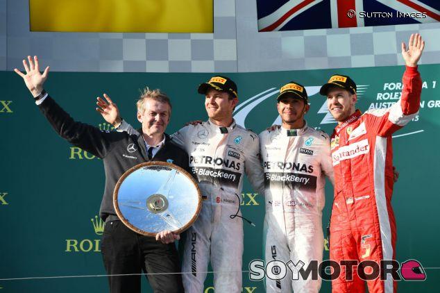 Podio del Gran Premio de Australia 2015 - LaF1