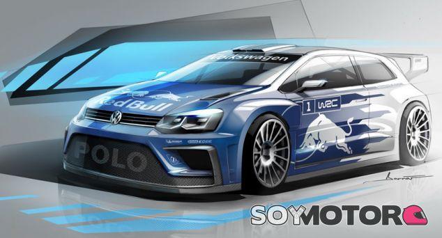 Boceto del Volkswagen Polo WRC 2017 - SoyMotor.com