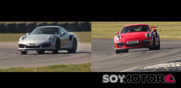 Duelo entre el 911 GT3 RS y el 911 Turbo S - SoyMotor.com