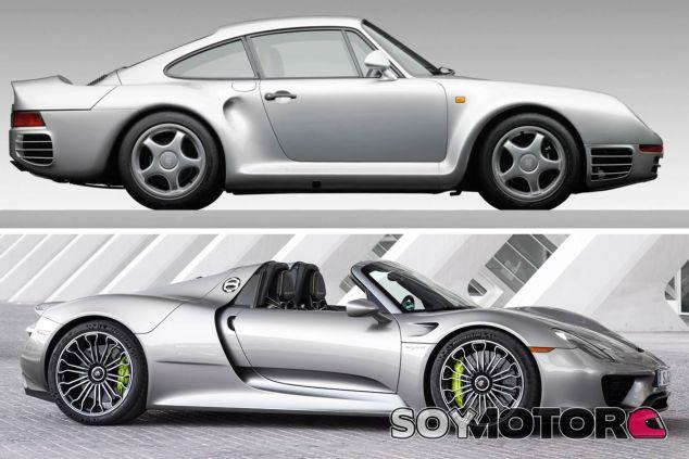 Porsche 959 vs. Porsche 918 Spyder - SoyMotor.com
