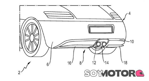 Porsche patenta un difusor trasero activo