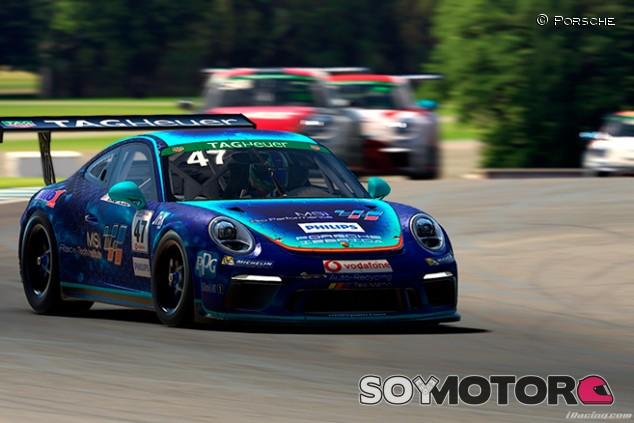 Doble podio de Alejandro Sánchez en la Porsche Supercup virtual - SoyMotor.com