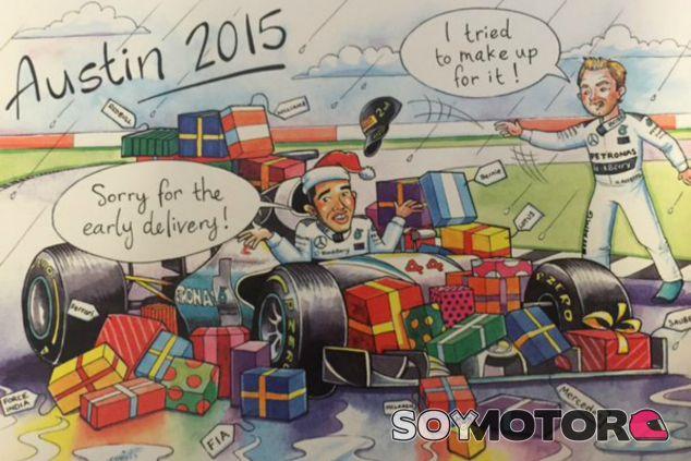 La postal navideña de Bernie Ecclestone - LaF1