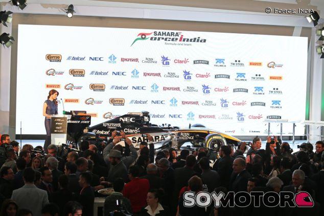 La última vez que se vio al Force India fue el día de su presentación - LaF1