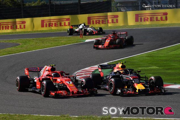 Verstappen y Räikkönen en Suzuka - SoyMotor.com