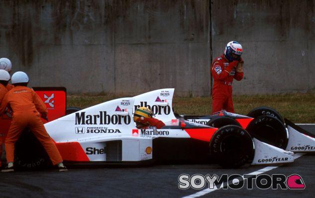El famoso accidente entre Ayrton Senna y Alain Prost en Suzuka 1989