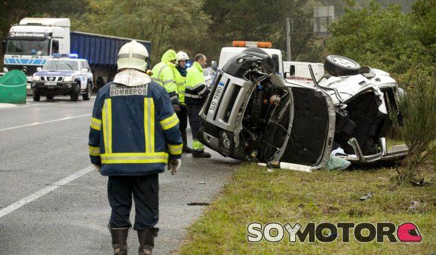 Foto de un accidente registrado en una carretera secundaria en España - SoyMotor