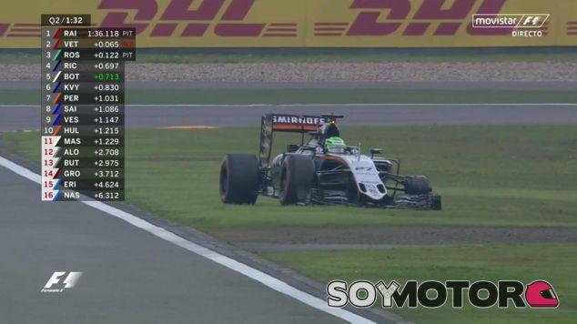 Nico Hülkenberg se detiene tras perder la rueda delantera izquierda - LaF1