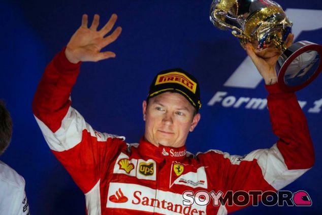Kimi Räikkönen en su primer podio de la temporada con Ferrari - LaF1