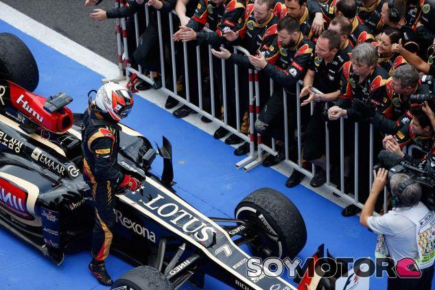 Kimi Räikkönen en el parc fermé - LaF1