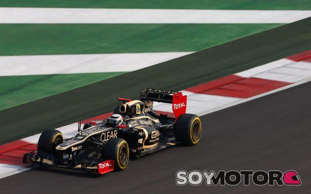 Kimi Räikkönen en el GP de la India F1 2012 con el Lotus E20 - LaF1
