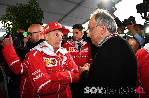 Kimi Räikkönen y Sergio Marchionne en Monza - SoyMotor.com
