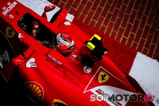 Kimi Räikkönen con el Ferrari en Mónaco - LaF1