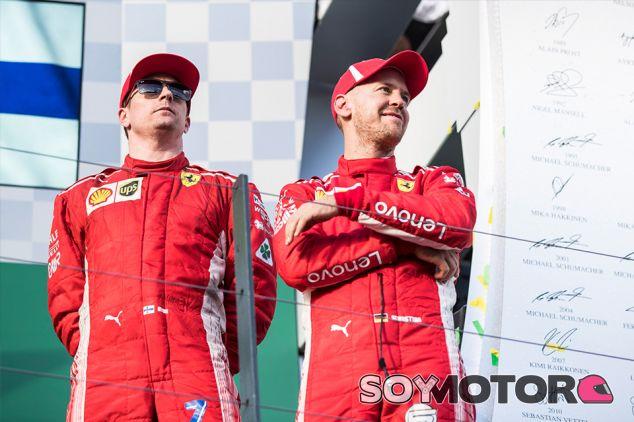 Kimi Räikkönen y Sebastian Vettel en Australia - SoyMotor.com